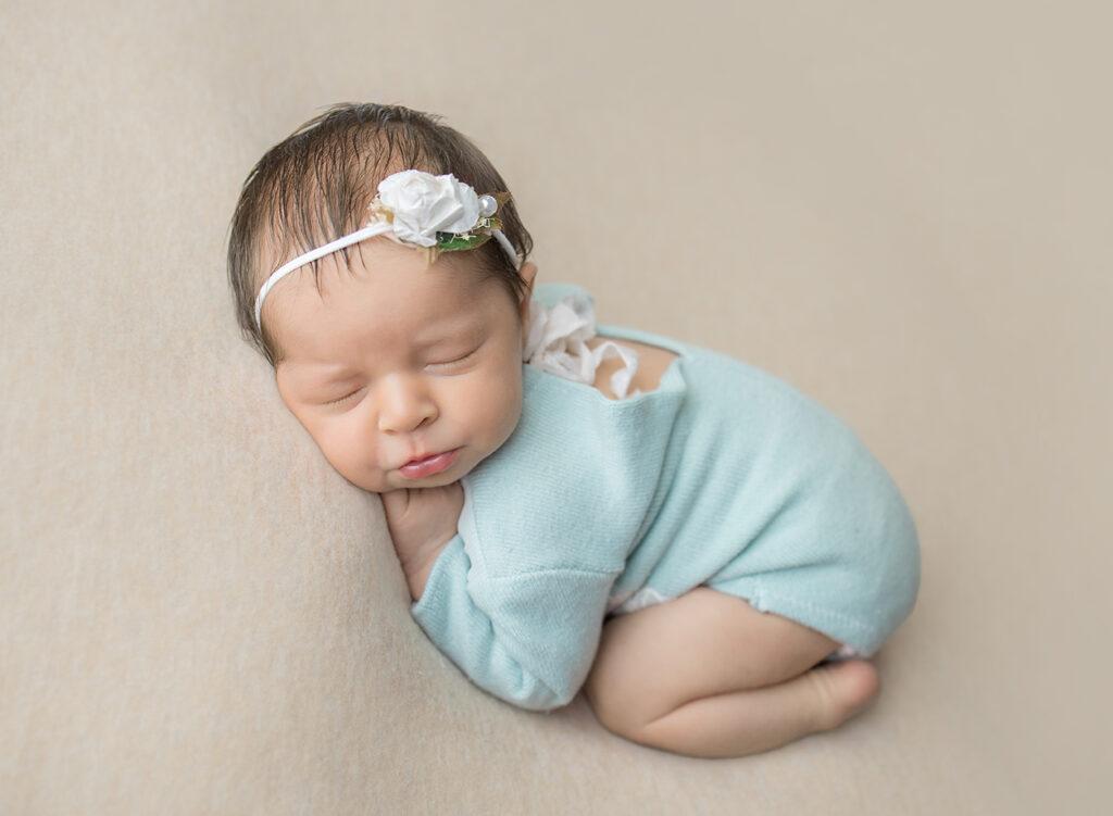 Newborn Portrait of Baby Girl